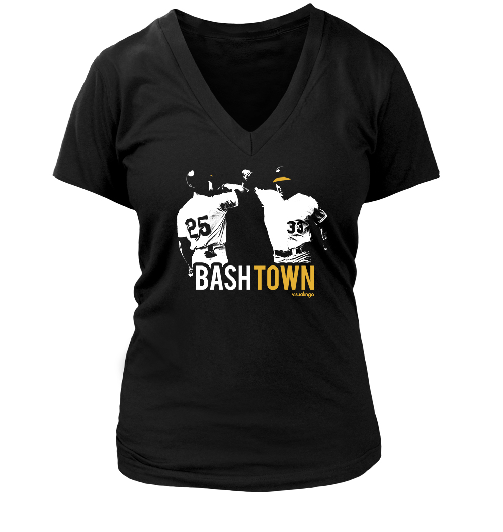 2e967adf625a3f Bash Town  Women s V-Neck T-Shirt